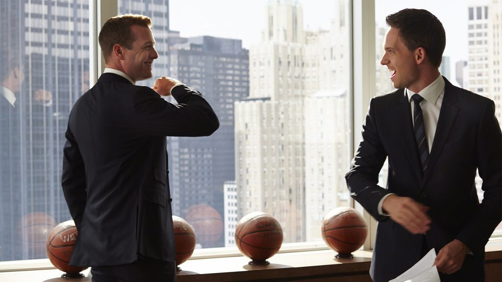 "SUITS -- ""Know When To Hold 'Em"" Episode 315 -- PIctured: (l-r) -- (Photo by: Shane Mahood/USA Network)"